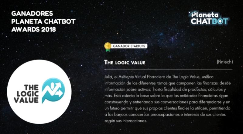 TheLogicValue ganador Premio Planeta Chatbot 2018